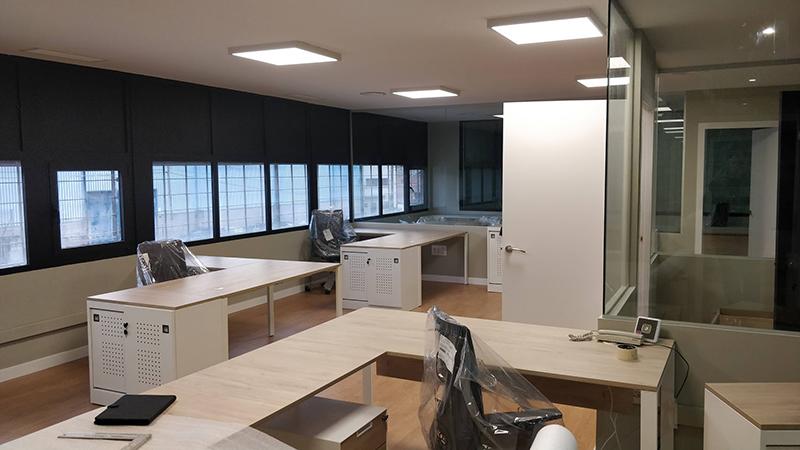 reforma oficinas nave industrial barcelona